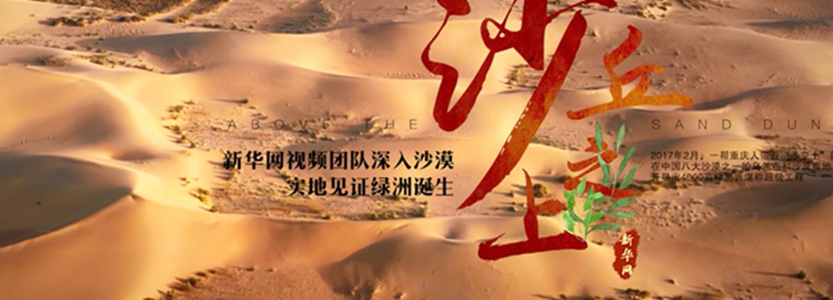 """新華網航拍證明:""""沙變土""""發明靠譜"""