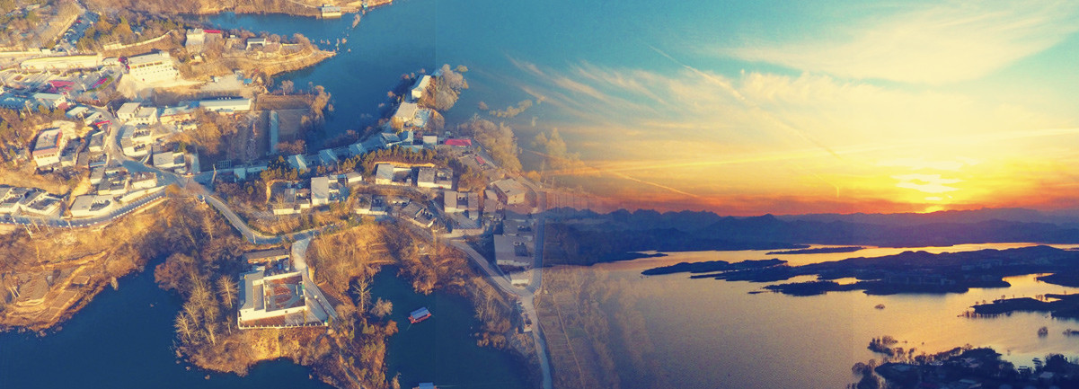 航拍西柏坡村:革命老區山水如畫