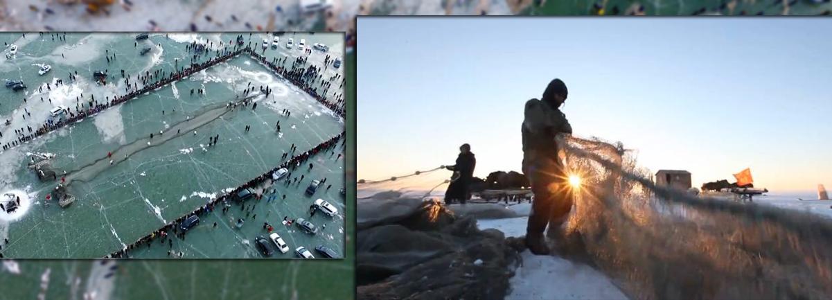 無人機帶你看吉林冬捕漁獵
