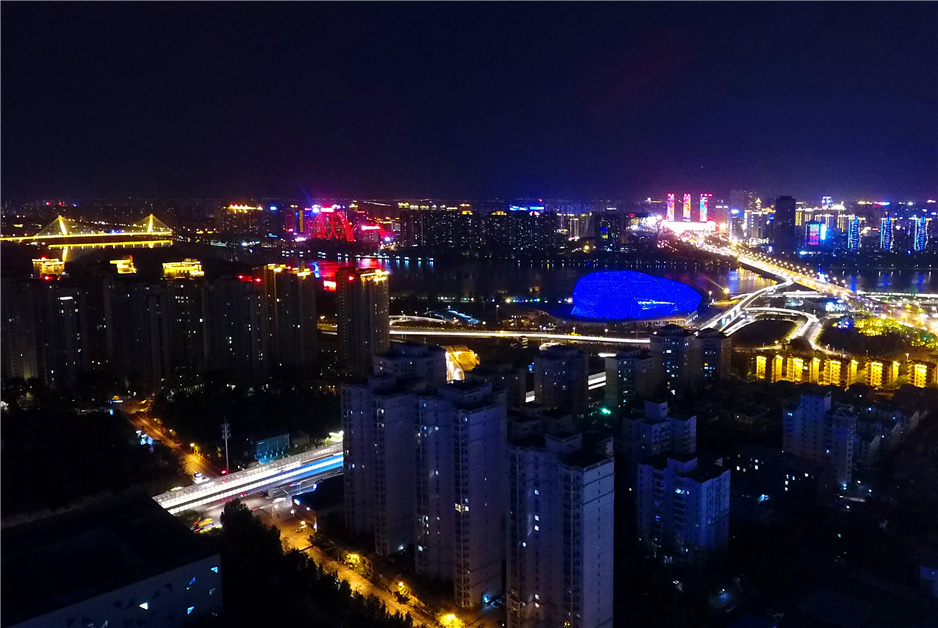 夜宿盛京城 航拍夜幕下的沈陽