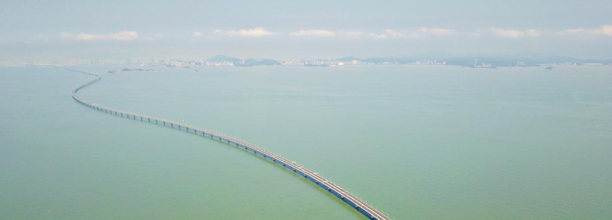 新華網無人機隊航拍港珠澳大橋