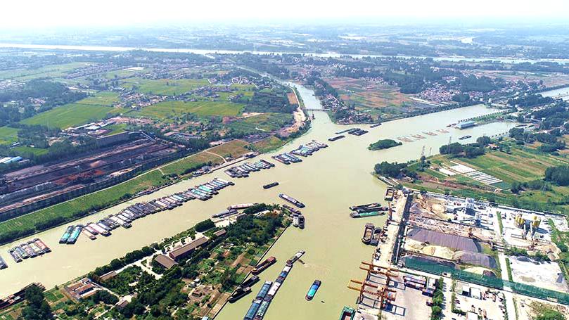 """航拍""""運河之都""""淮安:漕運樞紐,南北咽喉"""