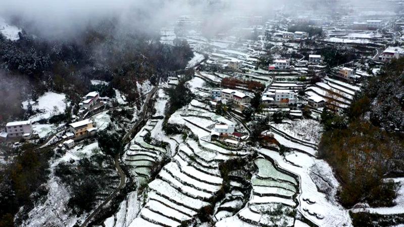 """【""""飛閱""""中國】初雪保康 冬日裏的水墨畫"""