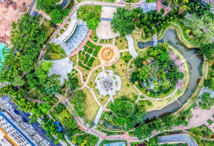 無人機全景漫遊深圳憲法公園