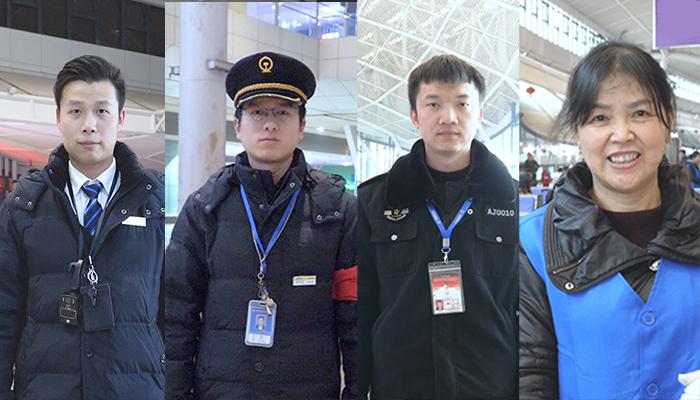 春運繁忙武漢站:他們在擔當