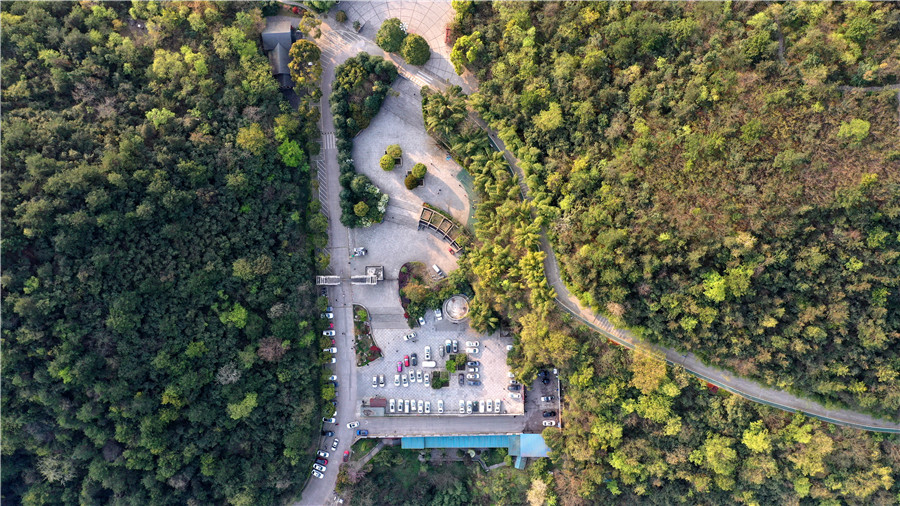 航拍貴陽市重要的生態屏障——鹿衝關森林公園