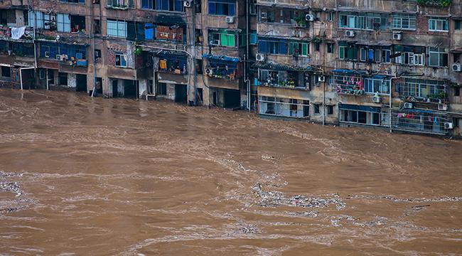 新華鷹現場:洪水來襲重慶綦江再次告急