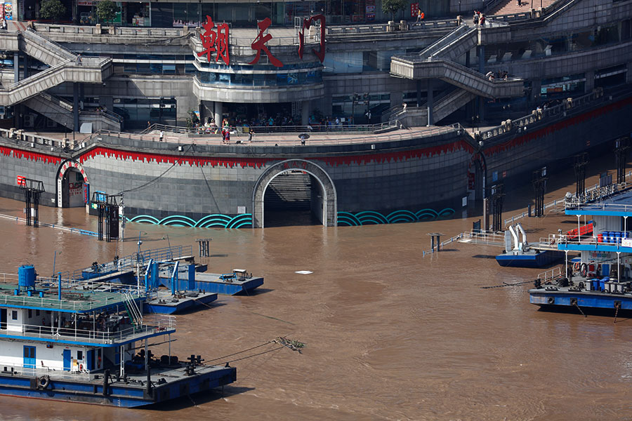 新華鷹|直擊長江第3號洪水過境重慶主城