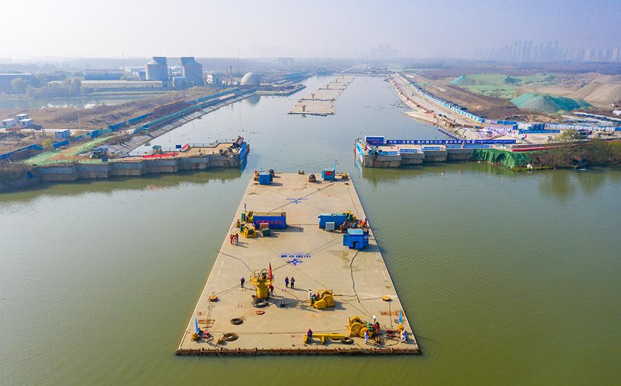 漢江首條沉管隧道開始安裝