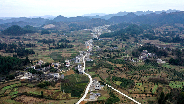 俯瞰貴州務川新農村