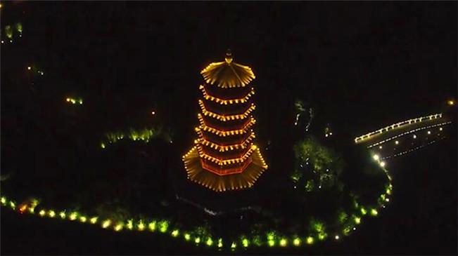 航拍華陽湖濕地 完美蝶變助力城市升值