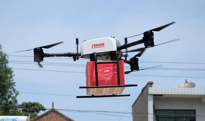 京東無人機送貨在西安實現常態化運營