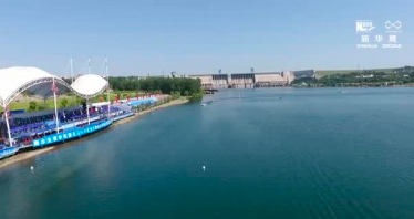 律動中國 航拍丹江口亞洲摩托艇公開賽開幕