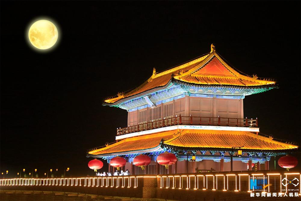 聽,建築在訴説|夜瞰正定 燈光璀璨下的古韻新城