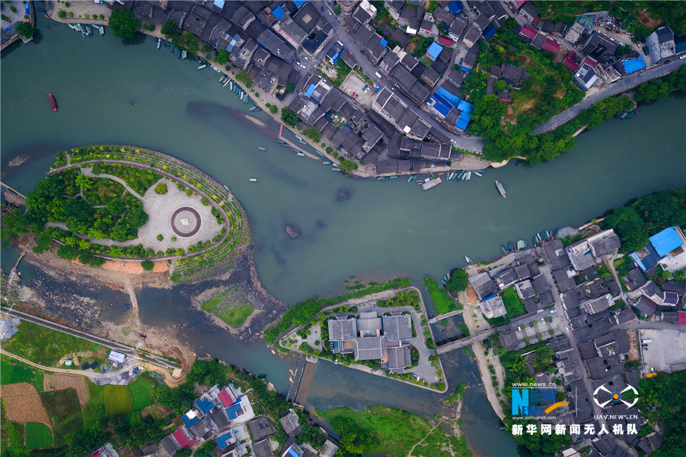 聽,建築在訴説|航拍重慶洪安古鎮 歲月靜好