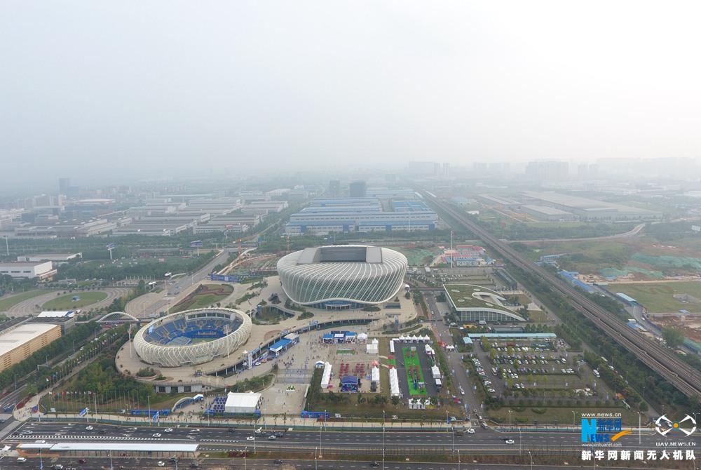律動中國|航拍武漢光谷國際網球中心
