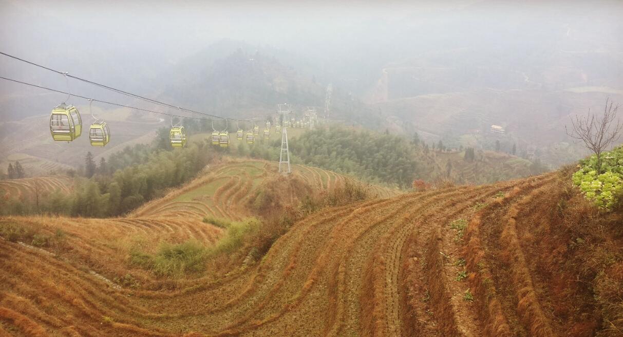 航拍龍脊梯田 感受桂林風景線上的明珠