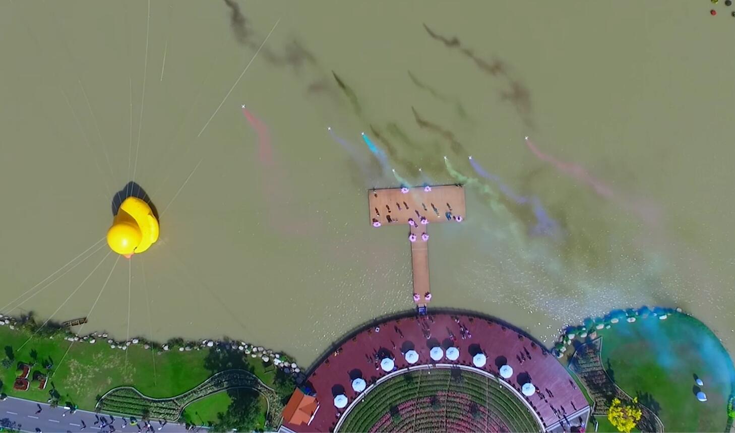 無人機之旅|黃鴨 風車 100萬株花 n個愛上江蘇的航拍在這兒