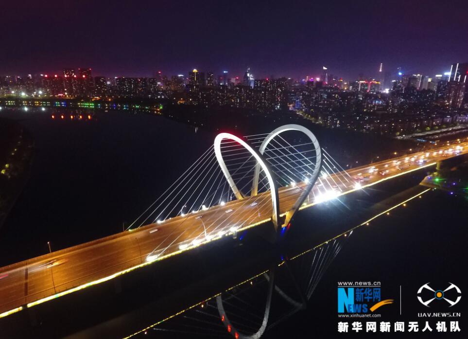 航拍:三好橋——世界首創鋼拱塔斜拉橋