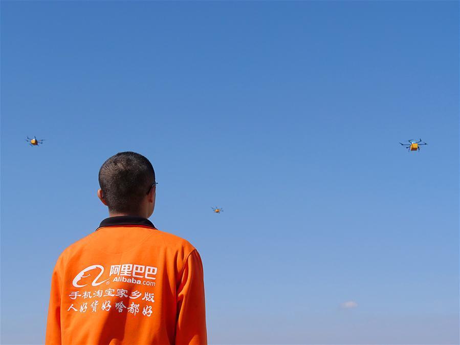 阿裏巴巴首次實現無人機跨海送快遞