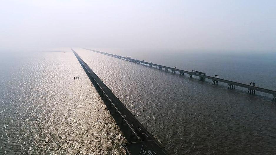無人機之旅|黃海大橋 風車 港口 灘涂 愛上江蘇的航拍在這兒