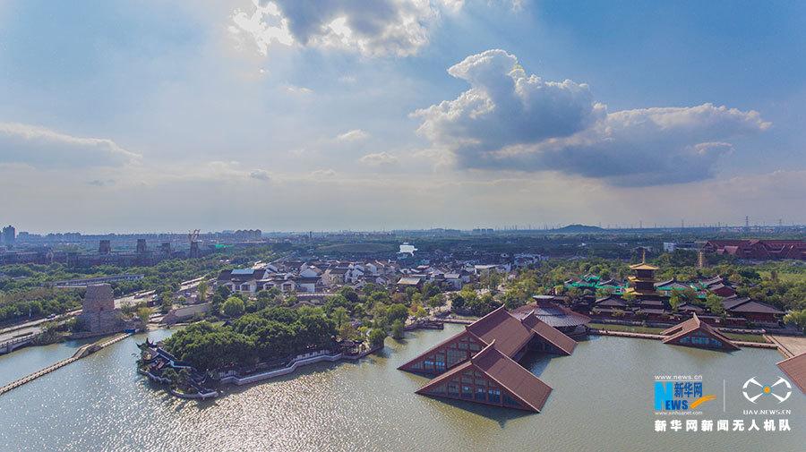 航拍水下博物館 廣富林遺址公園2018年春開放
