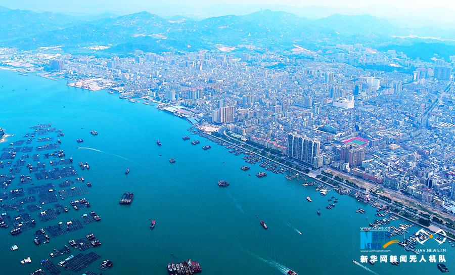 【視頻】無人機帶你瞰汕尾港 航拍海運風光