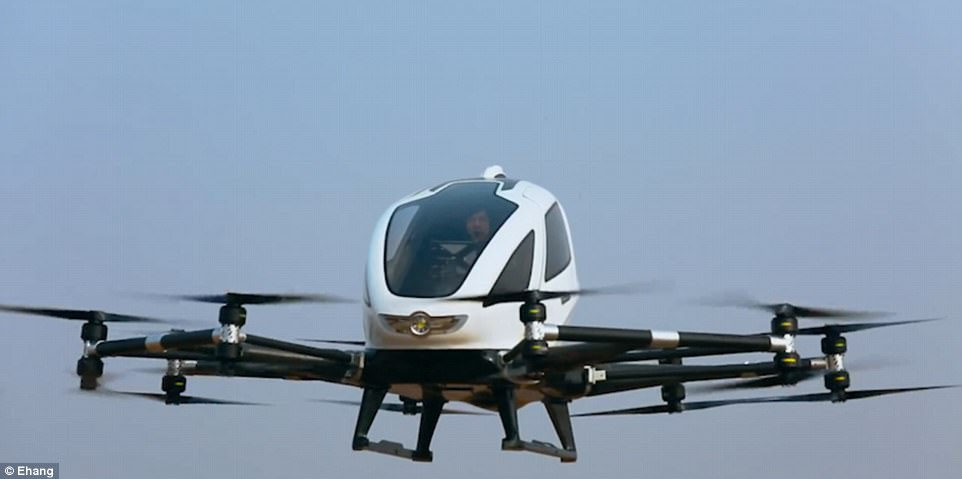 億航184無人機在中國載客飛行