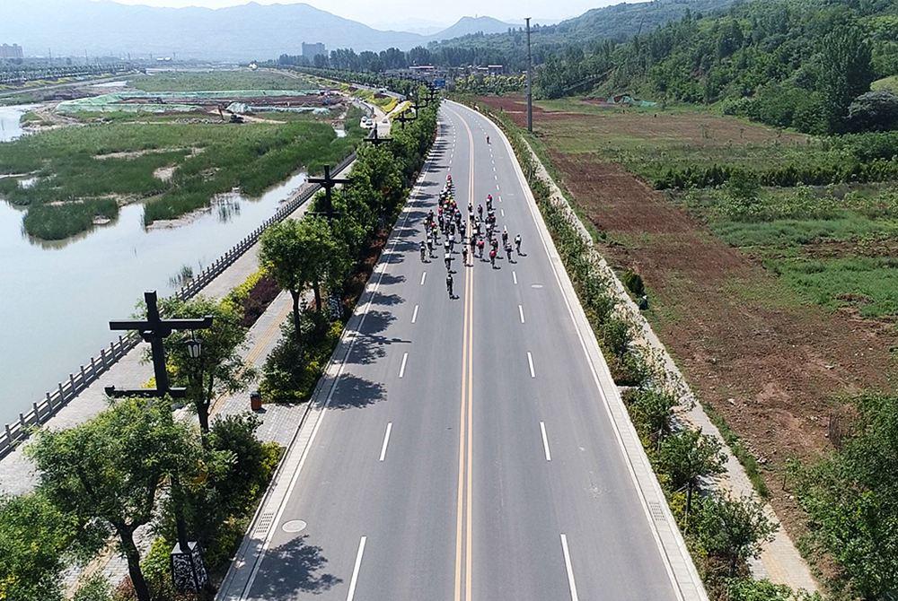 航拍西安•藍田國際自行車賽