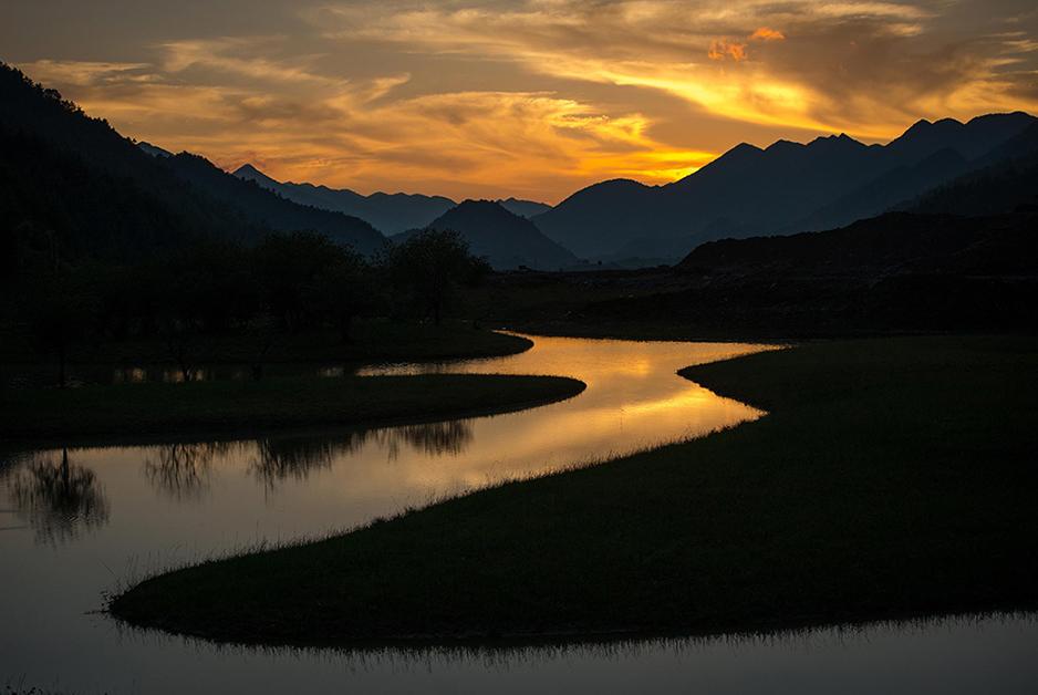 航拍重慶紅池壩 長江旅遊金三角新興明珠
